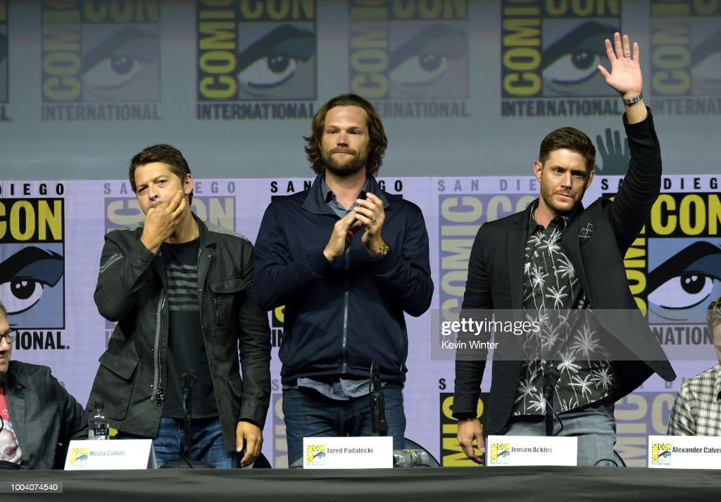 "Comic-Con International 2018 - ""Supernatural"" Special Video Presentation and Q&A : News Photo"