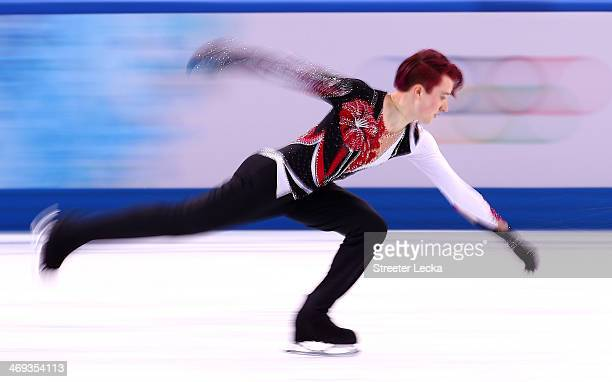 Misha Ge of Uzbekistan competes during the Figure Skating Men's Free Skating on day seven of the Sochi 2014 Winter Olympics at Iceberg Skating Palace...