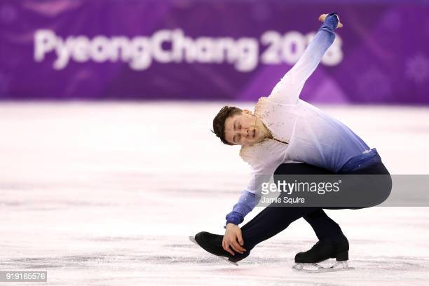 Misha Ge of Uzbekistan competes during the Men's Single Free Program on day eight of the PyeongChang 2018 Winter Olympic Games at Gangneung Ice Arena...