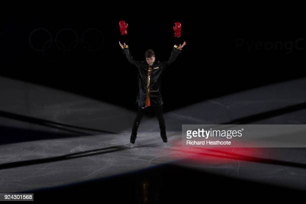 Misha Ge of Uzbekistan performs during the Figure Skating Gala Exhibition on day 16 of the PyeongChang 2018 Winter Olympics at Gangneung Ice Arena on...