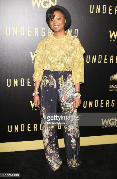 """Misha Green arrives at WGN America's """"Underground"""" FYC event held at The Landmark on May 2, 2017 in Los Angeles, California."""