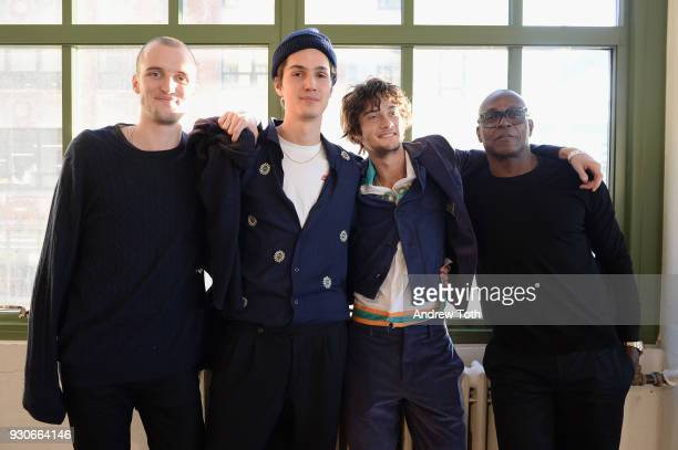 Misha Metcalfe Riccardo Ambrosio Oliver Green and Charles Aboah attend the Gurls Talk Festival in collaboration with Coach and Teen Vogue at Industry...