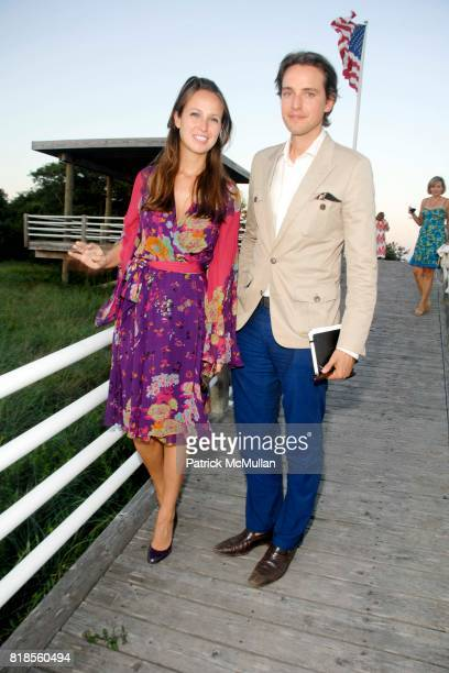 Misha Nonoo and Alexander Gilkes attend GUILD HALL SUMMER GALA CELEBRATING THE OPENING OF THE BARBARA KRUGER EXHIBITION at the Guild Hall on August...
