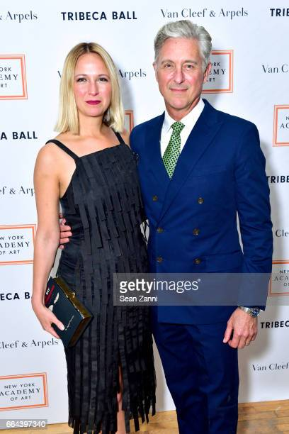 Misha Nonoo and David Kratz attend the New York Academy of Art Tribeca Ball Honoring Will Cotton at New York Academy of Art on April 3 2017 in New...