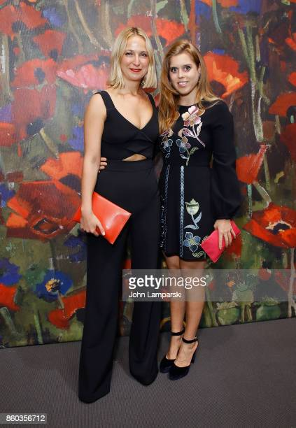 Misha Nonoo and Princess Beatrice of York attends the 2017 Take Home A Nude Art Party and auction at Sotheby's on October 11 2017 in New York City