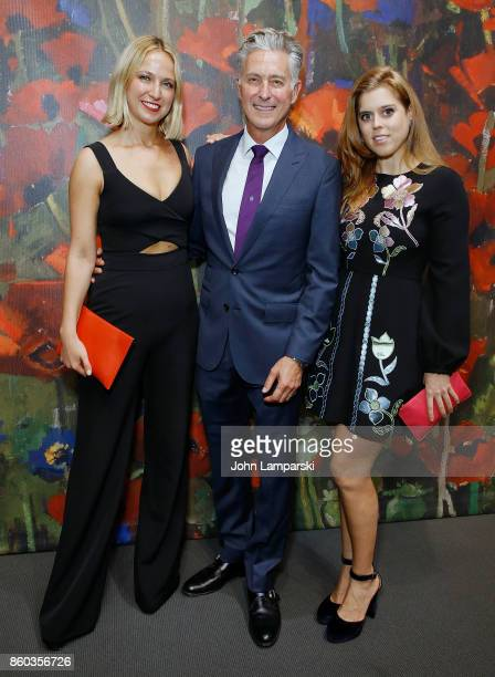 Misha Nonoo David Kratz and Princess Beatrice of York attends the 2017 Take Home A Nude Art Party and auction at Sotheby's on October 11 2017 in New...