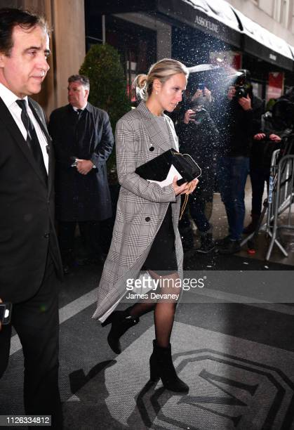 Misha Nonoo leaves The Mark Hotel after attending Meghan Duchess of Sussex's baby shower on February 20 2019 in New York City