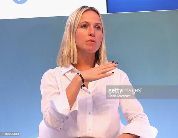 Misha Nonoo speaks onstage at Breaking the Mold at Thomson Reuters during 2016 Advertising Week New York on September 26 2016 in New York City