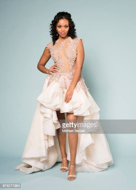 Mishael Morgan poses for portrait at The 44th Daytime Emmy Awards Portraits by The Artists Project Sponsored by Foster Grant on April 30 2017 in Los...