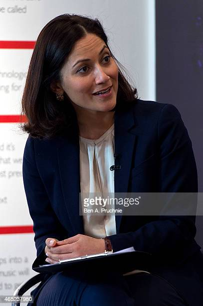 Mishal Husain attends the #Grazia10 talk 'News at 10' with Christina Lamb Jayne Secker Sue Turton Emily Maitlis and chaired by Mishal Husain...