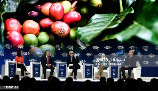 Mishal Husain BBC News presenter Colombian President Ivan Duque Director Research Brazilian Academy of Sciences Carlos Afonso Nobre Jane Goodall UN...