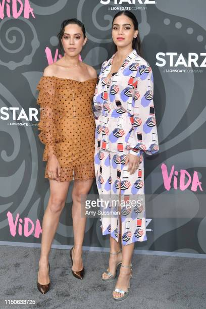 Mishel Prada and Melissa Barrera attend LA Premiere Of Starz' VIDA at Regal Downtown Theater on May 20 2019 in Los Angeles California