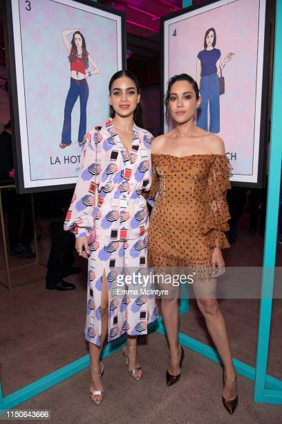 Mishel Prada and Melissa Barrera attend the after party for the LA premiere of Starz' VIDA on May 20 2019 in Los Angeles California