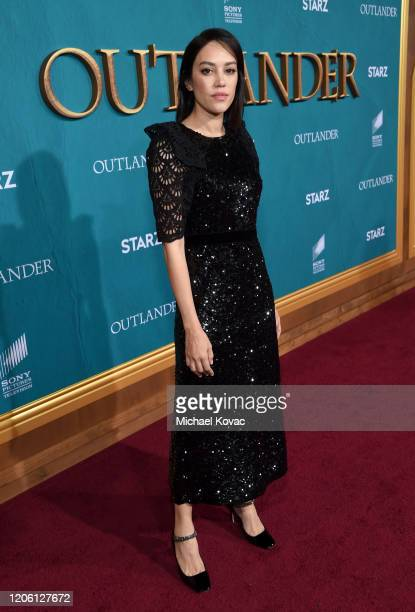 """Mishel Prada attends the Starz Premiere event for """"Outlander"""" Season 5 at Hollywood Palladium on February 13, 2020 in Los Angeles, California."""