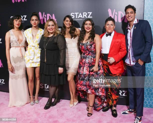 Mishel Prada Melissa Barrera Tanya Saracho Maria Elena Laas Chelsea Rendon Ser Anzoategui and Carlos Miranda attend the premiere of Starz Vida at the...