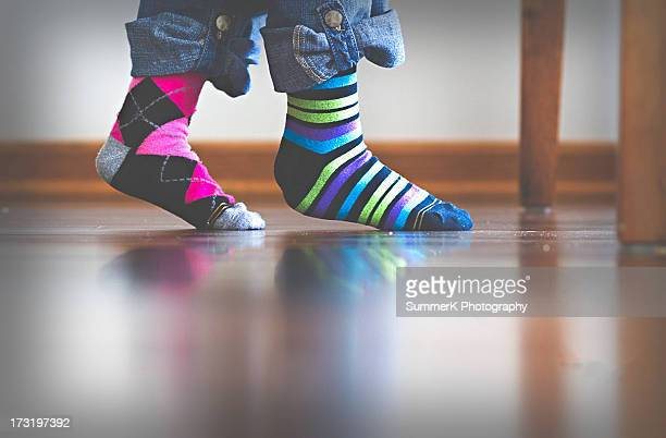 mismatch socks - sock stock pictures, royalty-free photos & images