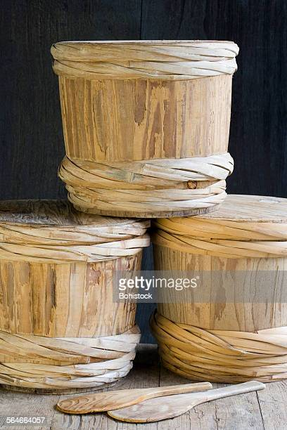 miso barrels - miso sauce stock pictures, royalty-free photos & images