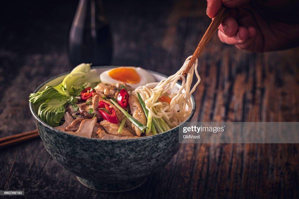 Miso Ramen Noodle Soup : Stock Photo