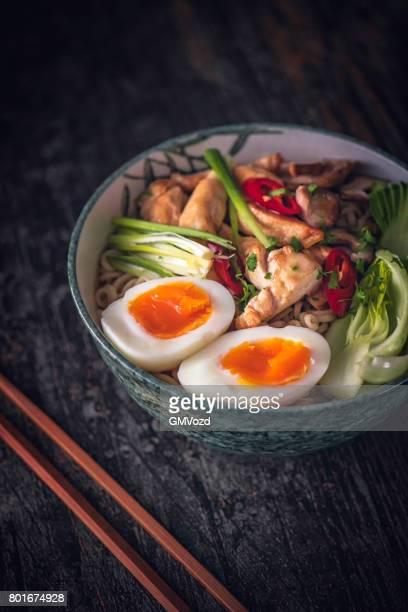 Miso-Ramen-Nudel-Suppe