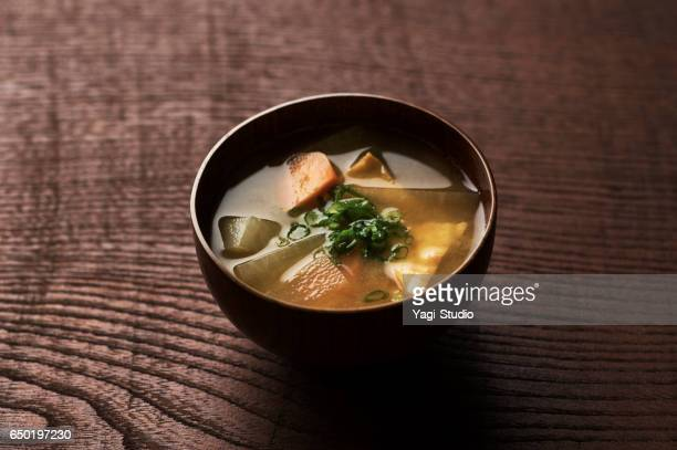 miso soup - miso sauce stock pictures, royalty-free photos & images