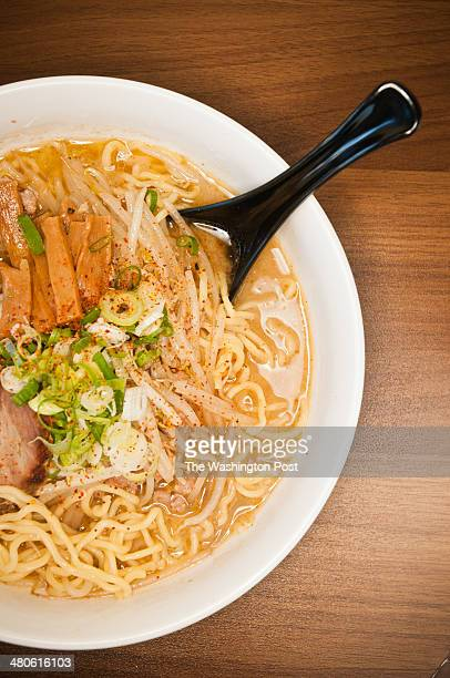 Miso with pork and Miso with Vegetables at Ren's Ramen on September 12 2011