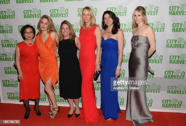 Misook Doolittle Nina Rennert Davidson Pamela Kaufmann Lise Evans Sandra Ripert and Carola Jain attend the City Harvest 19th Annual An Evening Of...