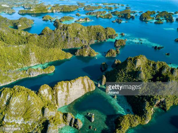 misool, raja ampat archipelago, west papua, indonesia - arquipélago - fotografias e filmes do acervo