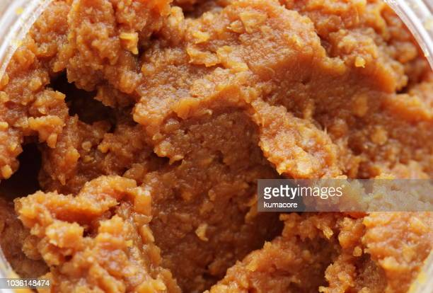 miso,soybean paste,close up - miso sauce stock pictures, royalty-free photos & images