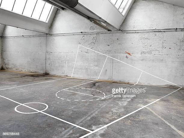 Misplaced Basketball court