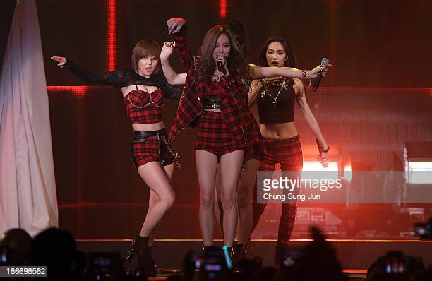 Miss A perform on stage during Youtube Music Awards 2013 at Kintex Hall on November 3, 2013 in Seoul, South Korea.