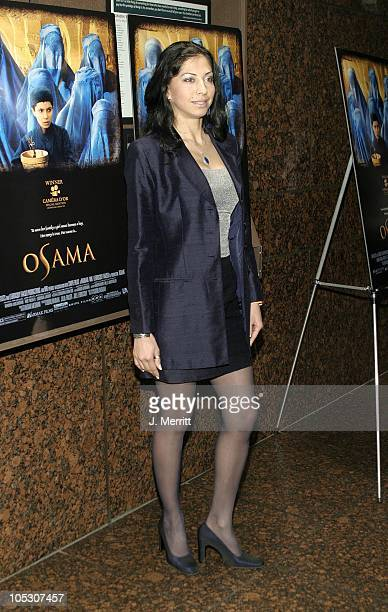 Miss Afghanistan Vida Samadzai during 'Osama' Los Angeles Premiere at Museum Of Tolerance in Beverly Hills California United States