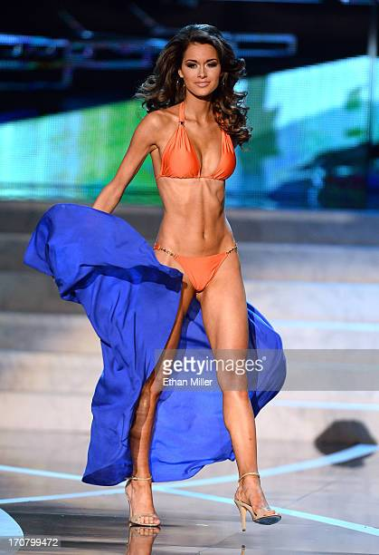 Miss Alabama USA Mary Margaret McCord competes in the swimsuit competition during the 2013 Miss USA pageant at PH Live at Planet Hollywood Resort...