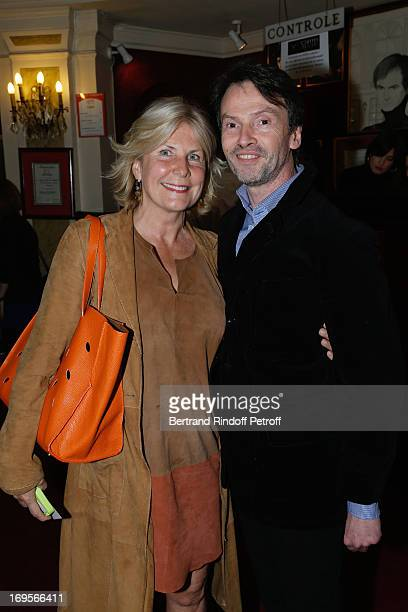 Miss Alain Flamarrion Suzanna and Bruno Finck attend Homage To French Actor JeanClaude Brialy at Theatre des Bouffes Parisiens with the screening of...