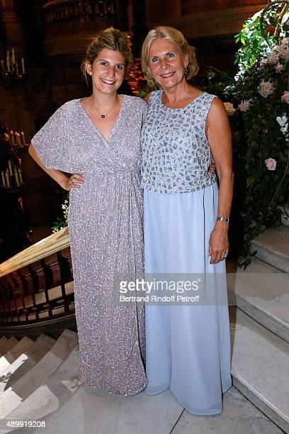Miss Alain Flammarion Suzanna and her daughter Victoria Frey attend the Ballet National de Paris Opening Season Gala at Opera Garnier on September 24...