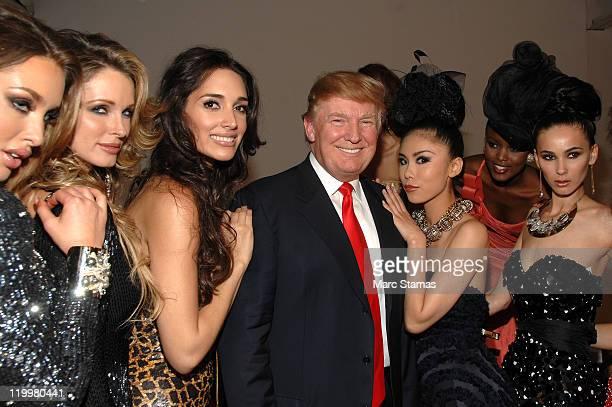Miss Albania 2010 Angela Martini Miss USA 2004 Shandi Finnessey Miss Universe 2003 Amelia Vega Donald Trump Miss Universe 2007 Riyo Mori and Miss...