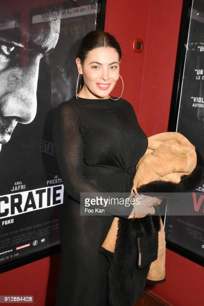 Miss Amal attends Voyoucratie premiere at Publicis Champs Elysees on January 31 2018 in Paris France