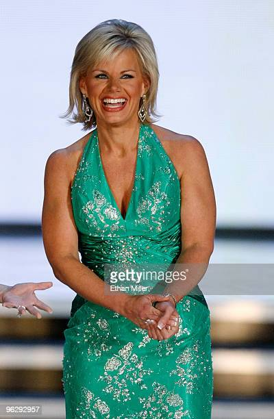 Miss America 1989 and Fox News Channel cohost Gretchen Carlson is introduced at the 2010 Miss America Pageant at the Planet Hollywood Resort Casino...