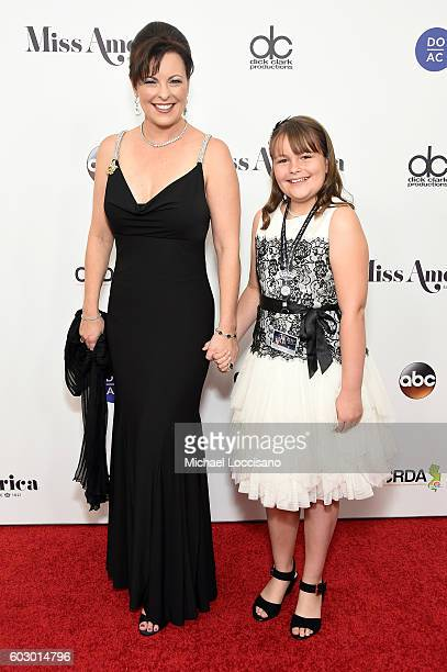 Miss America 1999 Nicole Johnson and Ava Grace Baker attend the 2017 Miss America Competition Red Carpet at Boardwalk Hall Arena on September 11 2016...