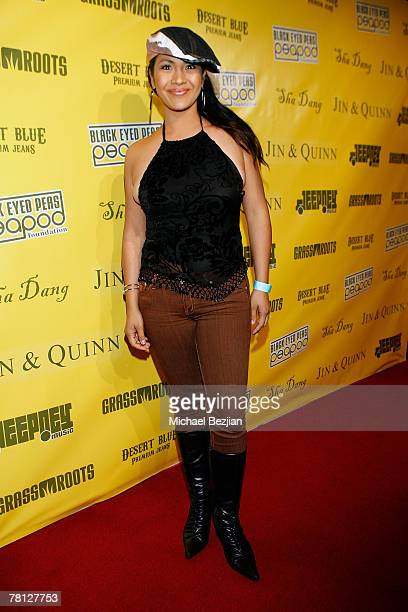 Miss America 2000 Angela Baraquio arrives at the Black Eyed Peas Benefit at Vanguard on November 27 2007 in Los Angeles California