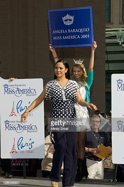 Miss America 2001 Angela Baraquio attends the 2011 Miss America's 'Show Us Your Shoes' Parade at Paris Las Vegas on January 14 2011 in Las Vegas...