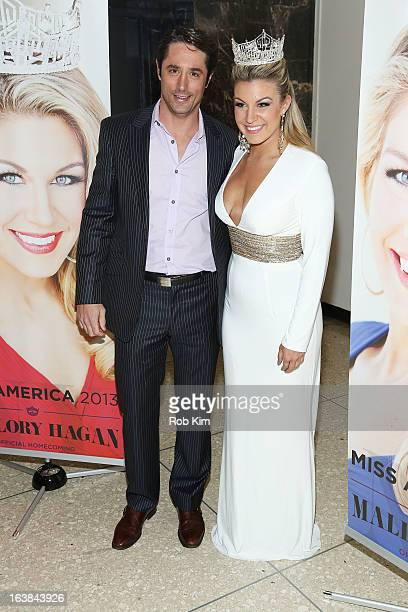 Miss America 2013 Mallory Hagan and Prince Lorenzo Borghese attend the Miss America 2013 Mallory Hagan Official Homecoming Celebration at The Fashion...