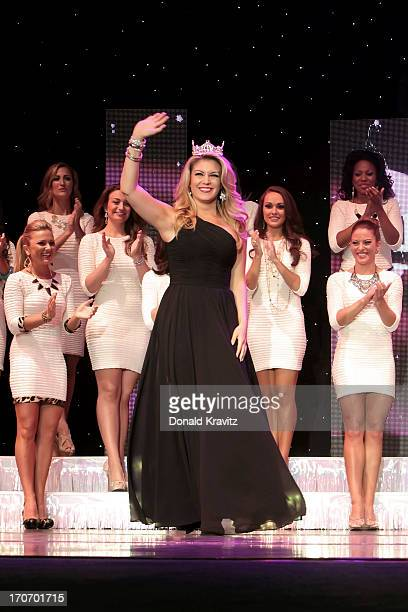 Miss America 2013 Mallory Hagan attends the 2013 Miss New Jersey Pageant on June 15 2013 in Ocean City New Jersey