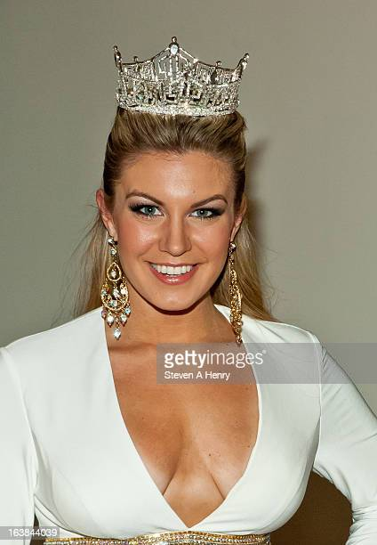 Miss America 2013 Mallory Hagan attends the Miss America 2013 Homecoming Gala at The Fashion Institute of Technology on March 16 2013 in New York City