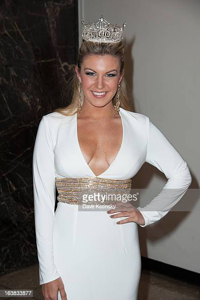 Miss America 2013 Mallory Hagan attends the Miss America 2013 Mallory Hagan Official Homecoming Celebration at The Fashion Institute of Technology on...
