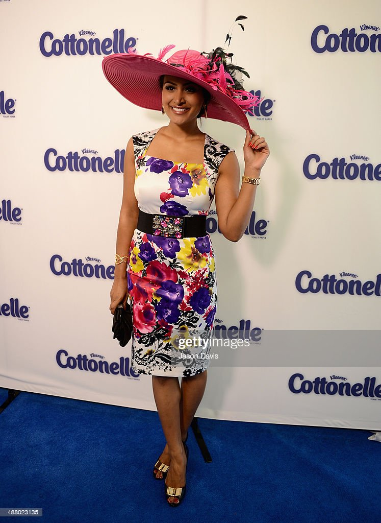Miss America 2014 Nina Davuluri attends Cottonelle Celebrity 'Clean Room' at the 140th Kentucky Derby at Churchill Downs on May 3, 2014 in Louisville, Kentucky.