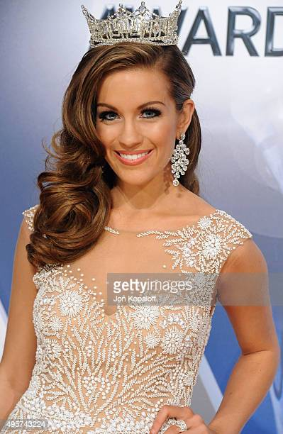 Miss America 2016 Betty Cantrell attends the 49th annual CMA Awards at the Bridgestone Arena on November 4 2015 in Nashville Tennessee