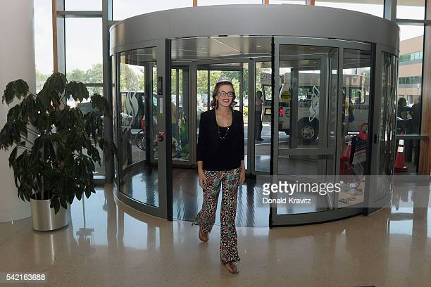 Miss America 2016 Betty Cantrell enters Shore Medical Center on June 22 2016 in Somers Point New Jersey