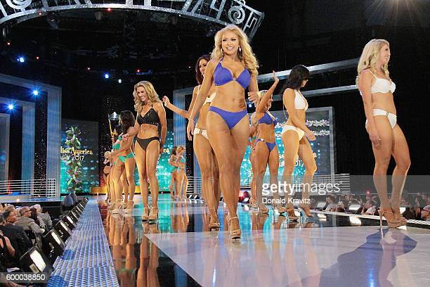 Miss America 2017 contestants appear onstage during Miss America 2017 2nd Night of Preliminary Competition at Boardwalk Hall Arena on September 7...