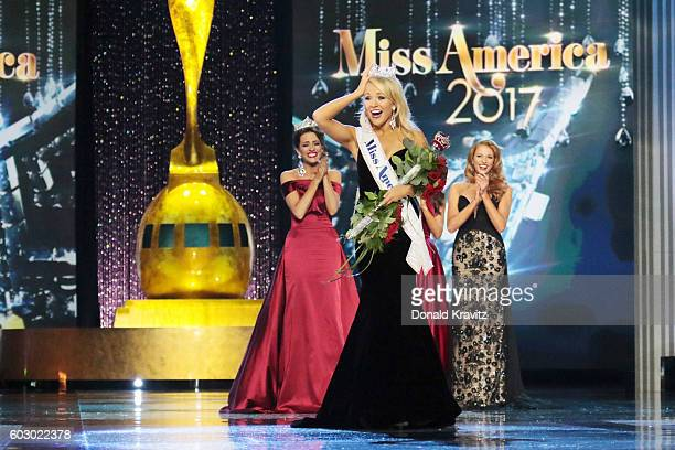 Miss America 2017 Savvy Shields appears onstage during the 2017 Miss America Competition at Boardwalk Hall Arena on September 11, 2016 in Atlantic...