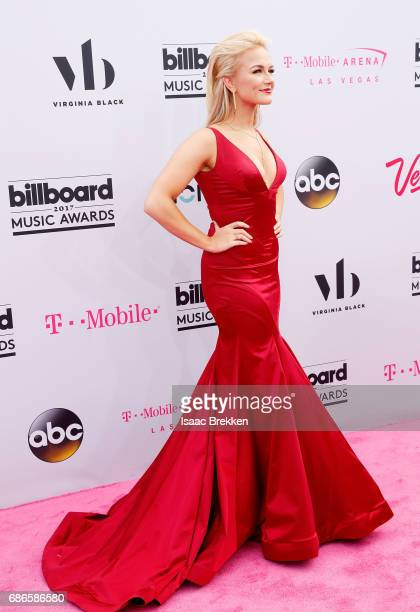 Miss America 2017 Savvy Shields arrives at the 2017 Billboard Music Awards presented by Virginia Black at TMobile Arena on May 21 2017 in Las Vegas...